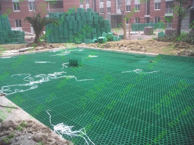 上海海事大学植草格施工现场