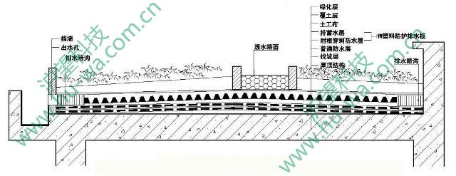③排水板铺设构造节点