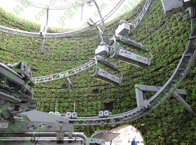上海世博瑞士馆垂直绿化效果