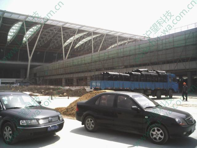 屋顶绿化排水浦东国际机场项目