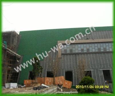 贵阳中天会展中心立体绿化施工现场