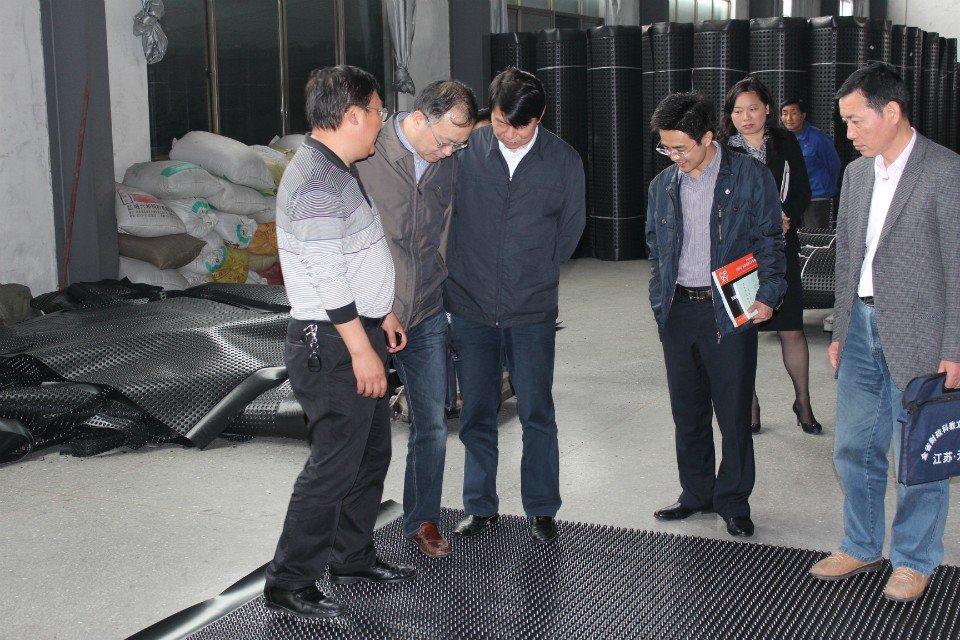江苏省财政厅领导对沪望品牌排水板给予高度评价